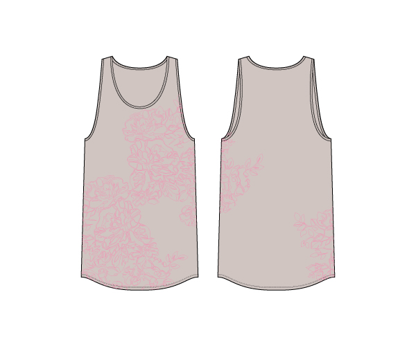 T-Shirt :: Floral Taupe - Women's