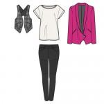Herbst Kollektion Outfit Eins