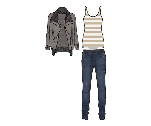 Herbstkollektion Outfit Drei